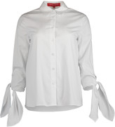 Carolina Herrera Cuff Tie Collared Shirt