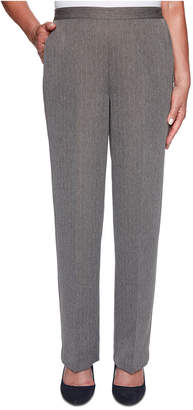 Alfred Dunner Sapphire Skies Proportioned Pinstriped Herringbone Pants