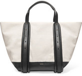 DKNY Hybrid Cotton And Leather Tote Bag