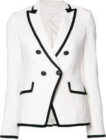 Veronica Beard Double-Breasted Contrast Blazer