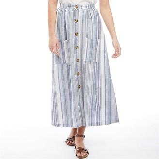 Only Womens Rhonda Ankle Length Skirt Insignia Blue/Resort Stripe