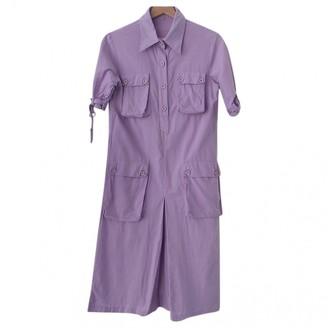 Non Signã© / Unsigned Hippie Chic Purple Cotton Dresses
