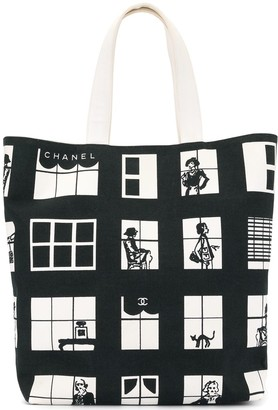 Chanel Pre-Owned Windows Hand Tote Bag