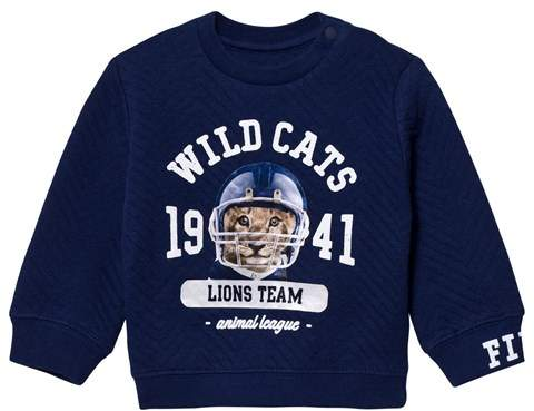 Mayoral Navy Tiger Print Sweatshirt