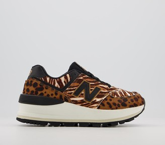 New Balance 574 Wedge Trainers Workwear Black Animal Mix
