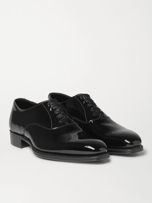 Kingsman + George Cleverley Patent-leather Oxford Shoes - Black