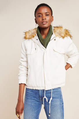 On The Road Weller Faux Fur-Trimmed Utility Jacket