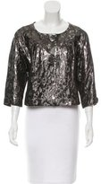Tory Burch Lightweight Cropped Metallic Jacket