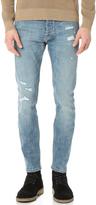 The Kooples Destroyed Slim Fit Denim Jeans