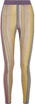 Missoni Metallic Crochet-knit Leggings - Gold