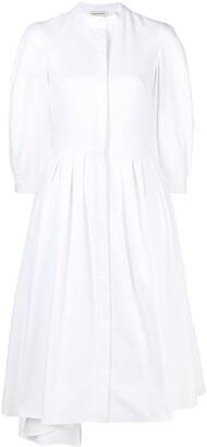 Alexander McQueen Collarless Shirt Dress