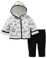 Little Me Infant Girls' Reversible Diamond Quilted Jacket & Dot French Terry Pants Set - Sizes 3-12 Months