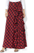 Skirt, Plaid Ruffled Maxi