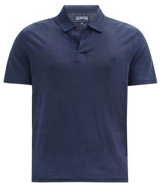 Vilebrequin Pyramid Linen Polo Shirt - Navy