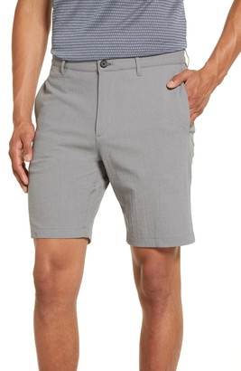 Theory Zaine Slim Fit Seersucker Shorts