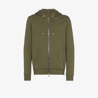 Balmain Coin embossed zip-up hoodie