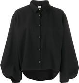 Totême Balloon Sleeve Cropped Shirt