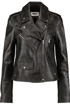 MM6 MAISON MARGIELA Cracked-Leather Biker Jacket