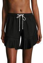 Jonathan Simkhai Jersey Ruffle Shorts