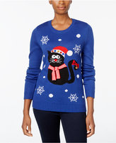 Karen Scott Petite Cat Holiday Sweater, Only at Macy's