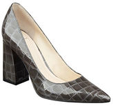 Marc Fisher Jenny Croco Patent Leather Pumps