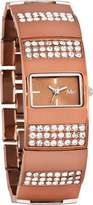 MC M&c Women's Elegant CZ Copper Color Self-Adjustable Links Watch