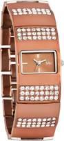 MC M&c Women's Elegant CZ Copper Color Self-Adjustable Links Watch