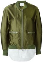 3.1 Phillip Lim shirt tail bomber jacket - women - Silk/Polyester/Spandex/Elastane/Viscose - 2