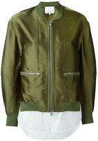 3.1 Phillip Lim shirt tail bomber jacket - women - Silk/Polyester/Spandex/Elastane/Viscose - 4