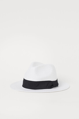H&M Straw Hat with Grosgrain Band