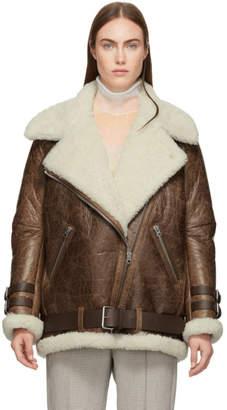 Acne Studios Brown Vintage Velcocite Jacket