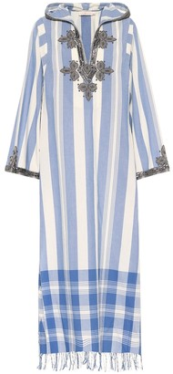Tory Burch Embellished cotton kaftan