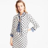 J.Crew Petite jacket in polka dot textured tweed