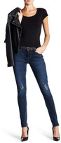 Seven7 Skinny Faux Leather Patch Jean