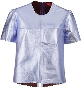 Parker Metallic Leather Tee - Lilac