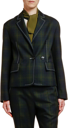Marni Plaid Wool Blazer Jacket