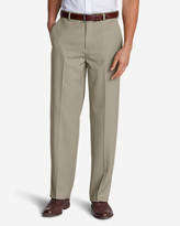 Eddie Bauer Men's Relaxed Fit Flat-Front Wool Gabardine Trousers