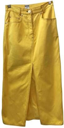 Moschino Love Yellow Cotton Skirt for Women