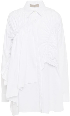 Preen Line Siri Draped Cotton-poplin Shirt