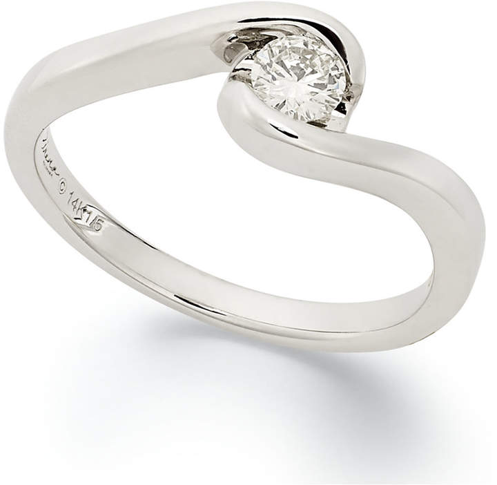 Sirena Diamond Engagement Ring in 14k White Gold (1/5 ct. t.w.)
