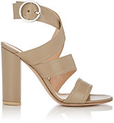 Gianvito Rossi Women's Rylee Ankle-Wrap Sandals-GREY