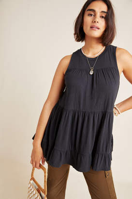 Anthropologie Georgia Tiered Babydoll Tunic