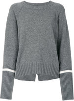 Moncler stripe sleeve sweater - women - Cashmere/Wool - XS