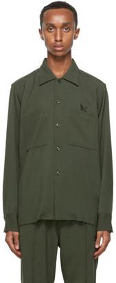 Needles Green Wool One-Up Shirt