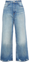 Thumbnail for your product : Rag & Bone Ruth Cropped Distressed High-rise Wide-leg Jeans