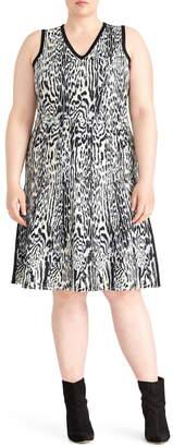 Rachel Roy Collection Leopard Print Sweater Dress