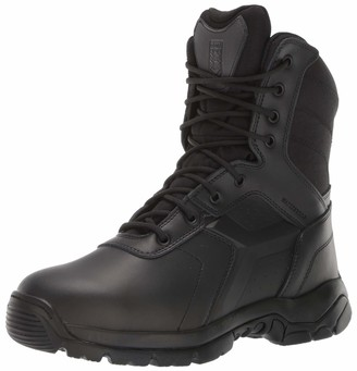 Battle Ops Men's 8-inch Waterproof Side Zip Tactical Boot Non Safety Toe Military