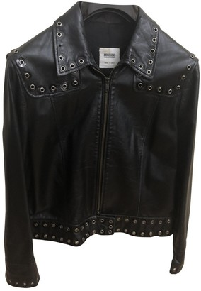 Moschino Cheap & Chic Moschino Cheap And Chic Black Leather Leather Jacket for Women Vintage