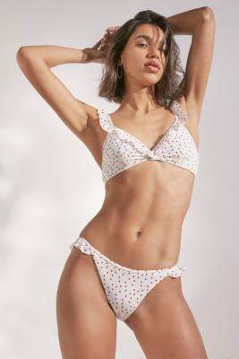 Out From Under Pretty Frill Bikini Knickers - beige L at Urban Outfitters