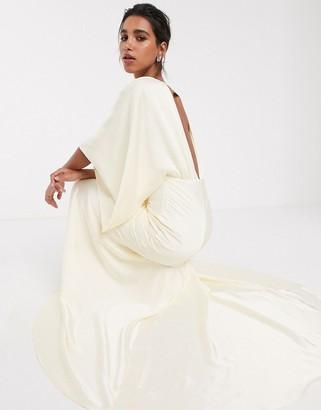 Asos Edition EDITION kimono plunge back maxi wedding dress